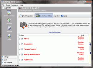 Fix spyware errors