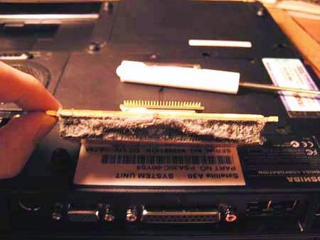 Dirty Laptop Heatsink