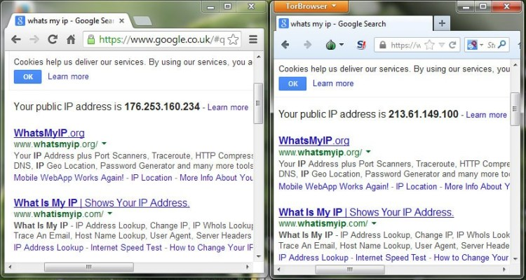 Testing IP in Tor Browser