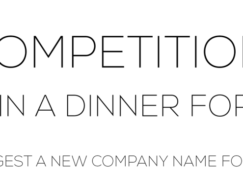 Competition - Win a luxurious dinner for two by finding a new name for our company