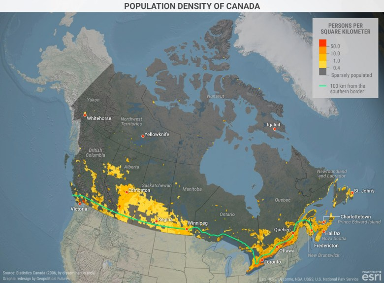 Population Density in Canada