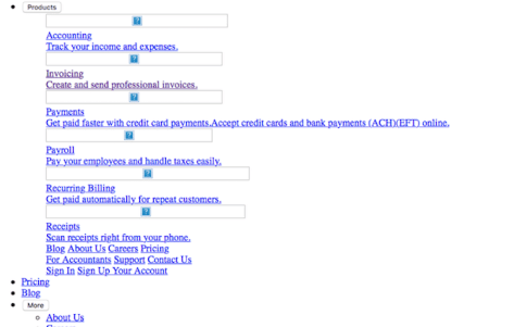 screenshot of a business form over the internet