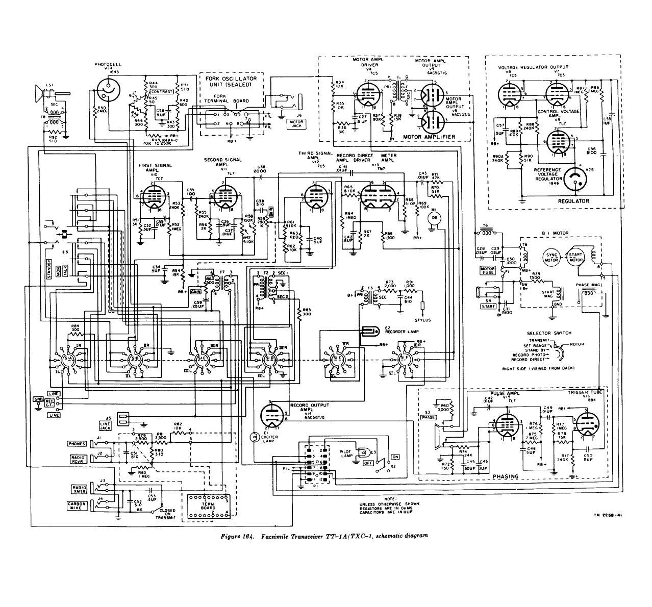 Figure 164 Facsimile Transceiver Tt 1a Txc 1 Schematic