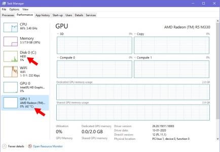 gpu temperature windows 2004 update