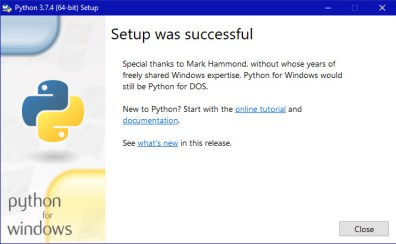 Python Setup Finish