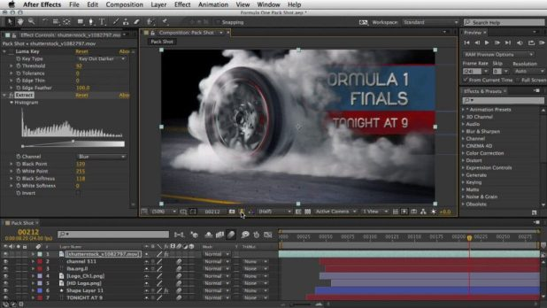 برنامج رسوم متحركة ثلاثية الأبعاد - After Effects