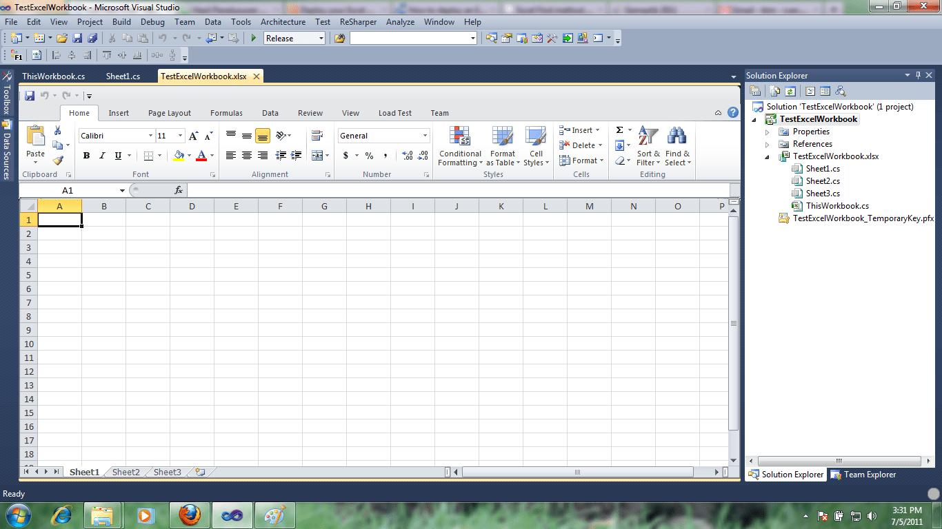 Modifikasi File Excel Menggunakan Vsto