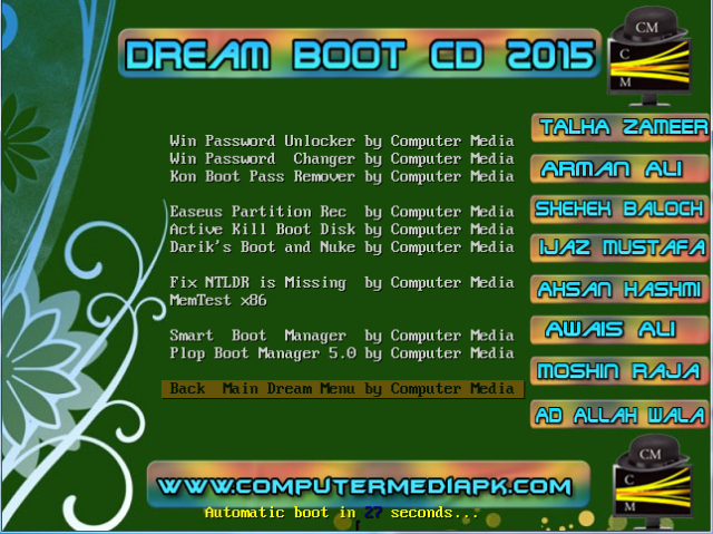 Dream Boot CD 2015 Recovery Tools