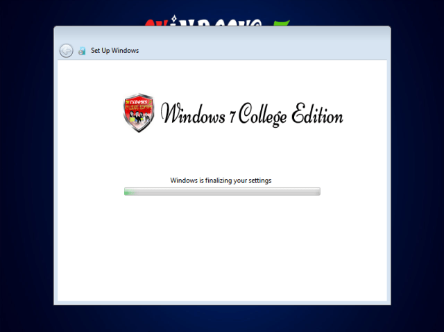 Windows 7 College Edition Lite Finall Setup 64 Bit By C.M Team