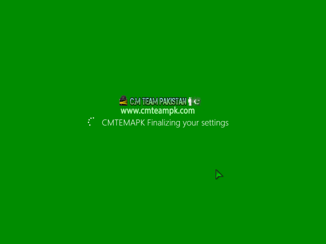 Windows 8 Green Edition 2017 By C.M Team Final Screen