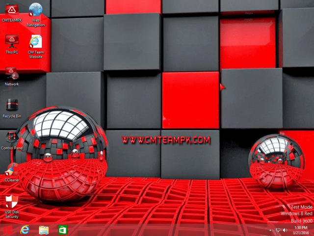 Windows 8 Red Edition Lite 2017 Destop Screen By CMTEAMPK