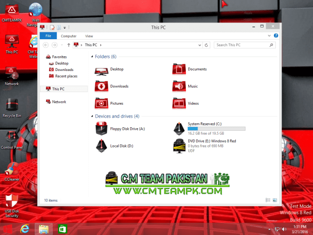 Windows 8 Red Edition Lite 2017 My Comp By CMTEAMPK