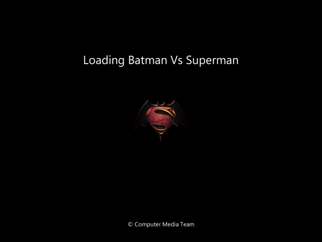 Windows 7 Batman Vs Superman Lite Version Boot Screen By Computer Media Team