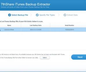 7thShare iTunes Backup Extractor 1.3.1.4 With Crack