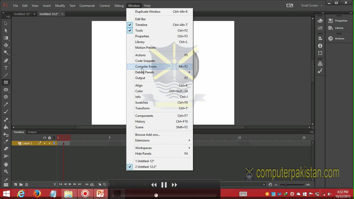Adobe Flash Professional Urdu Video Course - ComputerPakistan