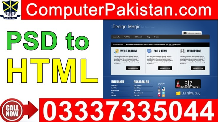 PSD to HTML Conversion in Urdu
