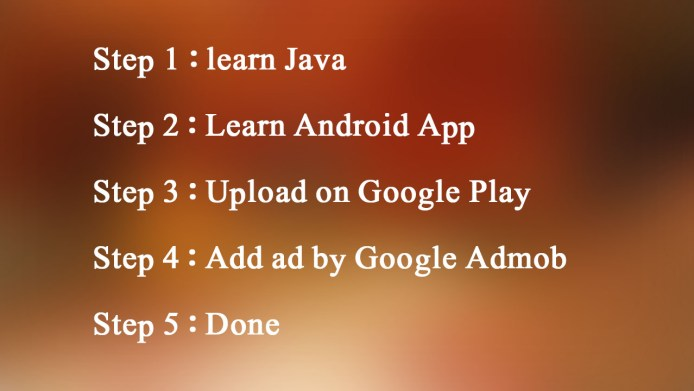 Learning Steps android application development