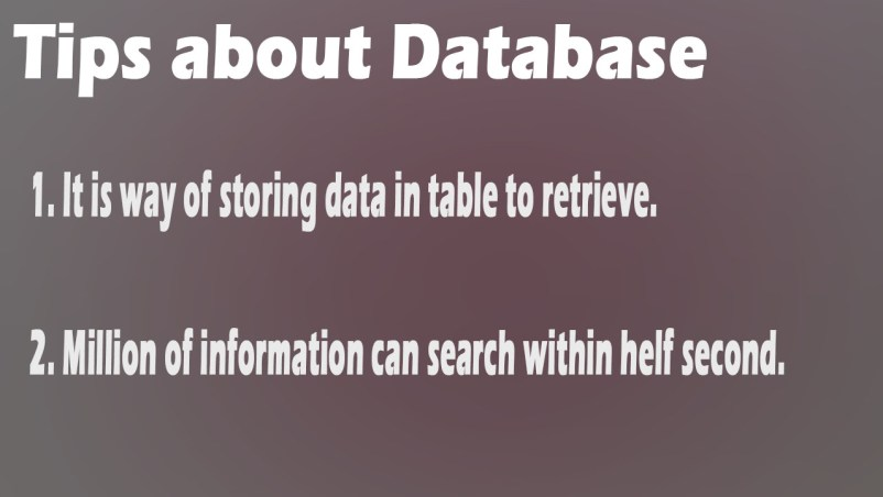 Ethical Hacking : Tips about Database