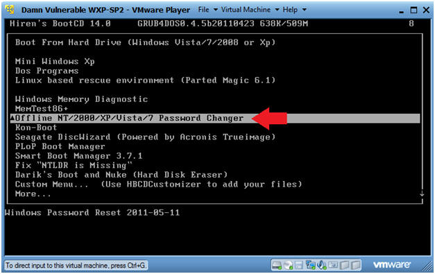 windows nt offline password kernel panic