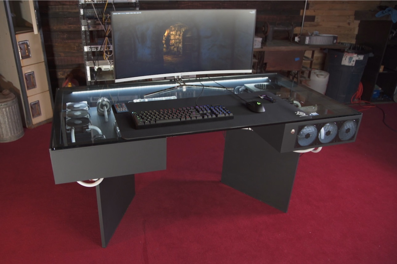 New Computers Built Into Desks Are Epic Computer Station Nation