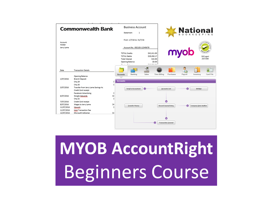 MYOB AccountRight Beginners Certificate Training Course