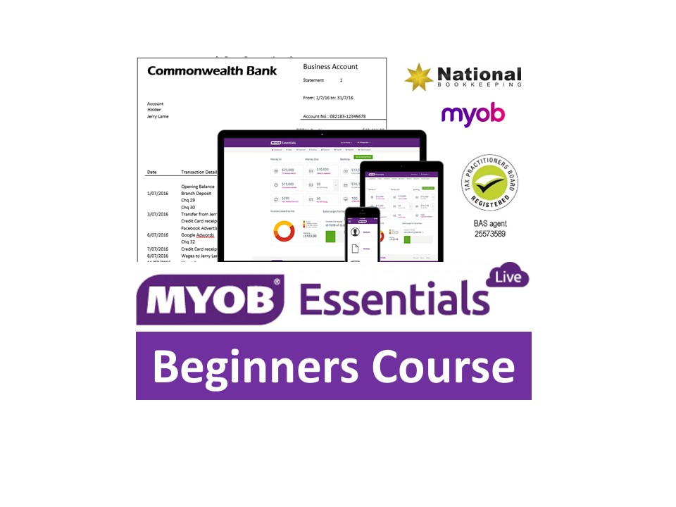 MYOB Essentials Beginners Certificate Training Course