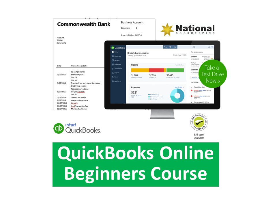 Intuit QuickBooks Online Beginners Certificate Training Course