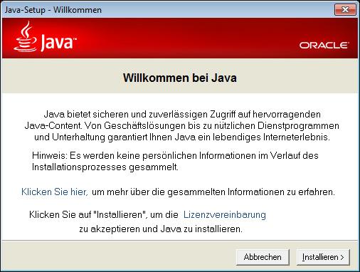 Aktuell: Java Version 7 Update 67 | computerweber