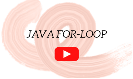 An introduction to Java for loop: Video Lecture 9