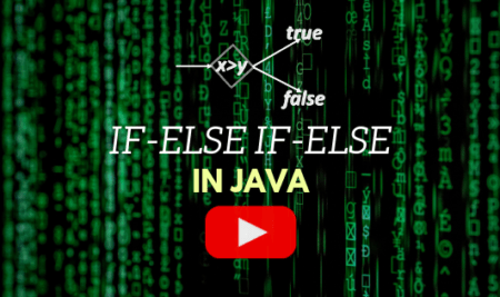 if-else if-else statements in Java: Video Lecture 7