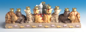 Happy Hanukkah! - a cat menorah