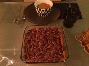 Sweet potato casserole and a nice bowl of pumpkin soup