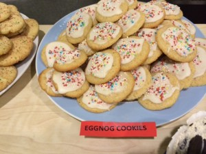 Eggnog cookies ready to eat