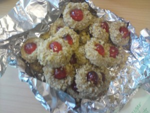 thumbprint cookies and a lot of dangerous tinfoil!