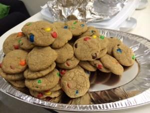 M&M cookies - always a favorite