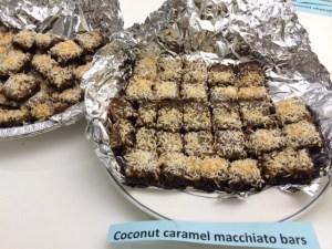 Gone in a flash! Coconut caramel macchiato bars