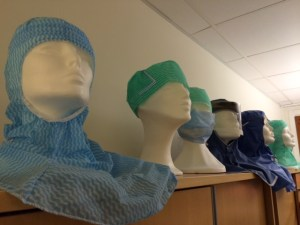 Looking but not seeing - mannequin heads in surgical staff clothing