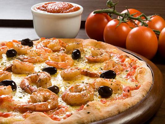 pizza de camarão