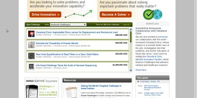 InnoCentive main page