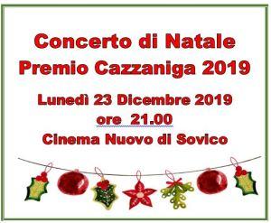 CONCERTO DI NATALE 2019 – PREMIO CAZZANIGA