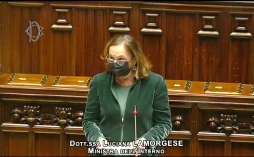 Ministra Lamorgese Question Time