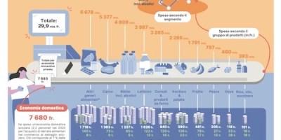 spese derrate alimentari commercio svizzero 2020