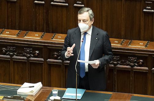 presidente Draghi Camera Deputati