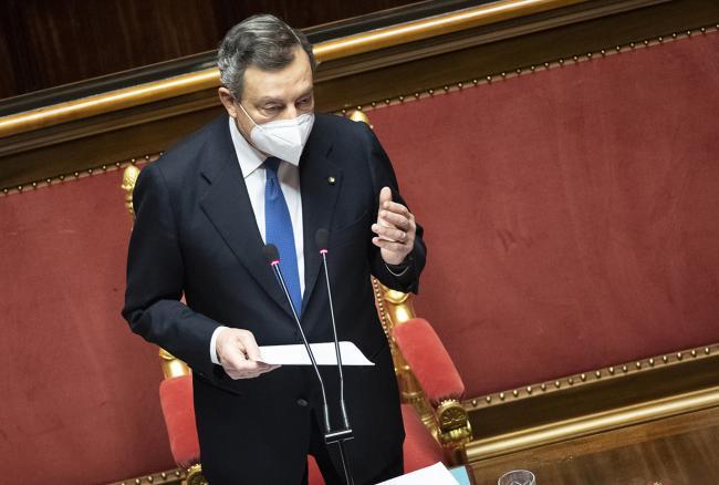 presidente Draghi Senato
