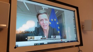 vicepresidente Commissione europea e commissaria concorrenza Margrethe Vestager