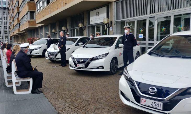 Nissan-Leaf-Capitaneria-di-Porto-elettriche-Mite