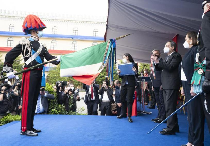 Draghi-cerimonia-Arma-Carabinieri