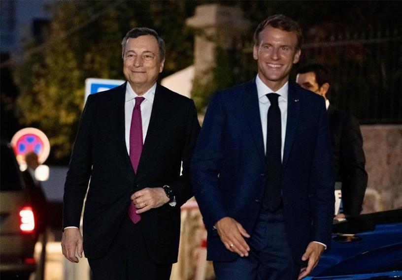 Draghi-Macron-Marsiglia