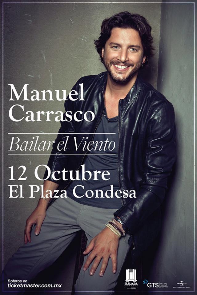 Manuel Carrasco con «Bailar el viento» por primera vez en México