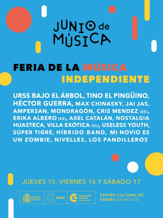 La Tercera Feria de la Música Independiente en CCEMx inicia este 15 de junio